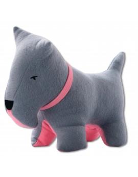 Petit dog gris rose