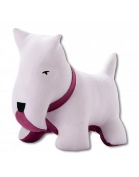 Petit dog blanc violet